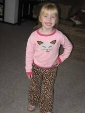 Gymboree Teacher's Pet Leopard Skirt Shirt Pink Cat Sweater Pants Dress 4 4T Lot