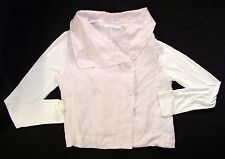 Womens Lauren Vidal Linen Jacket Size M Pink Unstructured Made in Italy A64