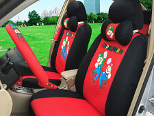 2016 set Net cloth Cartoon car seat cover universal seat covers car-covers red