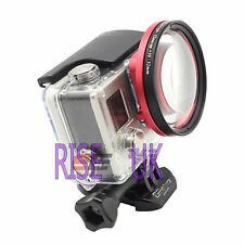 +10 58mm close up lens macro+ adapter ring for GoPro Hero 3 + 4 with box