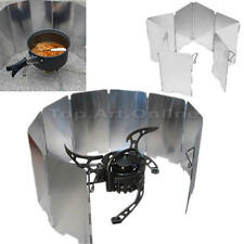Foldable Outdoor Camping Cooking Cooker Gas Stove Wind Shield Screen 9-Plates