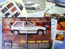 QUATTROR983-PROVA SU STRADA/ROAD TEST-1983- OPEL CORSA 1000 LUSSO-8 fogli