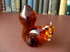 Wedgwood Amber Glass Squirrel Paperweight
