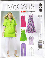 Womens Top Dress Shorts Capri Pants McCalls Sewing Pattern Plus Sz 26 28 30 32