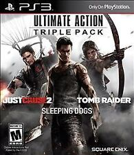 Ps3 Ultimate Action: Triple Pack (tomb raider, just cause 2, sleeping dogs) new