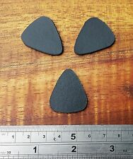 Small Black Leather Professional plectrum,Ukulele,bass,guitar 3pk
