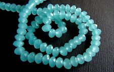 Chalcedony micro faceted rondelle
