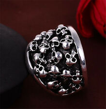 New Fashion Men Stainless Steel skulls Punk rings Jewelry US Size11