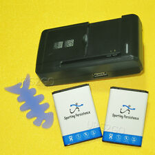 New 2X 1060mAh Sporting Battery+Travel Wall For Samsung SGH-S150G S150G Tracfone