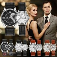 New Tiannbu Couple Watch Romantic Fashion Leather Stainless steel Wrist Watches
