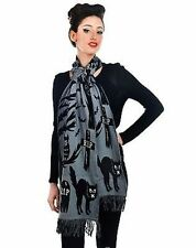 Too Fast Apparel Knit In Graveyard Ghost Scary Haunted Spooky Tombstone Scarf