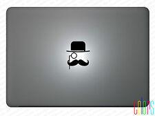 """Gentleman Mustache Apple Macbook Air 13"""" 15"""" Pro Sticker Aufkleber Skin"""