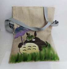 Lovely My Neighbor Totoro Canvas Shoulder Bag Hand Paint Style