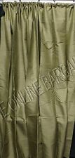 1 Pottery Barn DUPIONI SILK Drapes Panels Curtains 104x84 Lichen Green POLE TOP