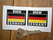 BMW GERMANY German Flag Style Stickers 50mm Pair Motorcycle Helmet Race Car Bike