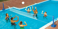Swimline 9186 Swimming Pool Cross Volleyball Net Game For In-Ground Pools