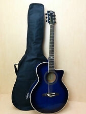 EKO NXT 018 CW EQ Straight Cutaway Electro-Acoustic Guitar, Blue Sunburst