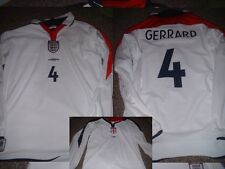 England 4 GERRARD Shirt XL Boys Girl Youth Football Soccer Jersey Liverpool LS