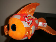 "Ty Beanie Boos - SAMI the 6"" Goldfish Fish ~ NEW for 2016 ~ Very Cute ~ IN HAND"