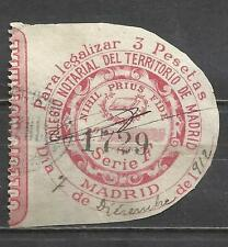 5018 -SELLO FISCAL CLASICO CORPORATIVO MADRID 1900 SPAIN REVENUE SERIE F.VER MAS