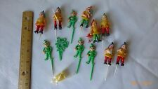 Vintage Cake Toppers Saint Patrick's Day Cup Cake Decorations Plastic Lot of 14
