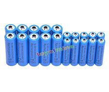 10 +10 X AA AAA rechargeable batterie1800mAh 3000mAh 1.2V Bleu pile