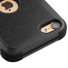 For iPod Touch 5th & 6th Gen - Hybrid Case Shockproof Rugged BLACK Cover Shield