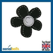 Black Daisy Flower Car Aerial Ball Antenna Topper