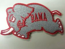 Alabama Crimson Tide Vintage CLASSIC RUNNING BAMA Embroidered Iron On Patch NCAA