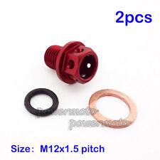 2x Oil Magnetic Drain Bolt Plug For Chinese 50cc -160cc Lifan YX Zongshen Loncin