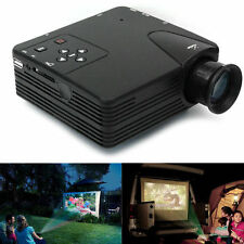 HD 1080P Mini Projector Multimedia LED LCD Home Theater Cinema USB SD AV HDMI UK