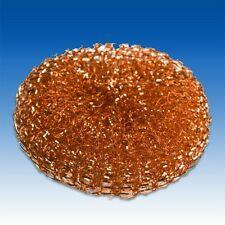 Copper Wire Scourers Cleaning Washing Up Dish Scourer Catering Supplies x 30