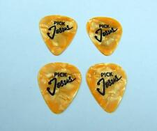 "Golden color Guitar Picks, quantity of 4, ships from California ""Pick Jesus"""