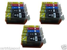 15 NEW Pack Ink w/ CHIP for Canon PGI-5 BK CLI-8 MP500 MP530 MP600 MP610 MP800