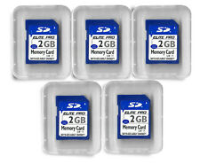 2GB SD Flash Memory Cards - 5 Pack for Digital Cameras Trail Cameras +
