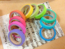 10x DIY Kawaii Washi Adhesive Color Decorative Sticker Sticky Tape Scrapbooking