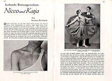 Das mondäne Tänzerpaar Nicco & Katja und das geheimnisvolle Tatoo c.1930
