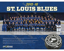 2015-16 ST. LOUIS BLUES HOCKEY 8X10 TEAM PHOTO