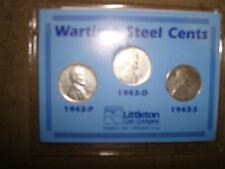WARTIME STEEL CENTS 1943 P D S FROM LITTLETON COIN