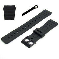 Replacement Watch Band 18mm Black Resin to fit Casio F91, F105, F94