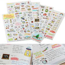 6 Sheets Creative DIY Calendar Diary Book Sticker Scrapbook Decoration Planner