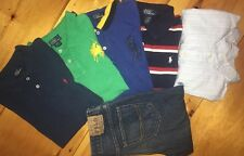 Lot Of 6 Youth Boys Size L(14-16) Ralph Lauren Polo 5-Shirts 1-Denim Polo Jeans