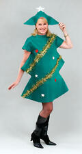 Christmas Tree with Tinsel Adults Fancy Dress Festive Mens Ladies Costume Outfit