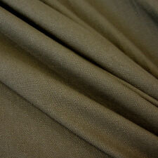 Fabric Per Metre Cotton fabric Canvas Panama Cotton stable olive green army