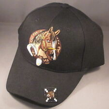 Custom Horse and Buckle embroiderered Baseball Cap with Swarovski Crystals