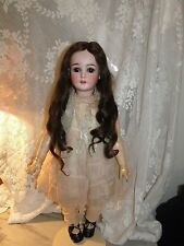 Antique Human Long Hair German French Doll Wig