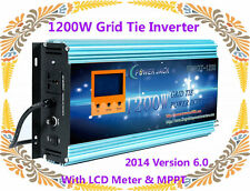 1200W Grid Tie Inverter 52-88V DC/230V AC With LCD Meter & MPPT For Solar Panel