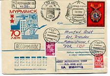 URSS CCCP Exploration Mission Ship Polar Antarctic Cover Registered Murmansk
