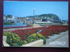 POSTCARD SUSSEX HASTINGS - BOATING LAKE & GARDENS OLD TOWN