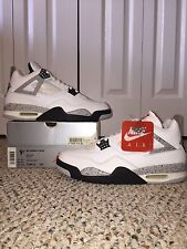 NEW AIR JORDAN 4 RETRO sz 9.5 1999 OG RETRO IV WHITE CEMENT NIKE AIR BRED I